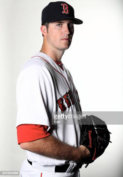 Drew Pomeranz of the Boston Red Sox poses for a portrait during the Boston Red Sox photo day on February 19 2017 at JetBlue Park in Ft Myers Florida