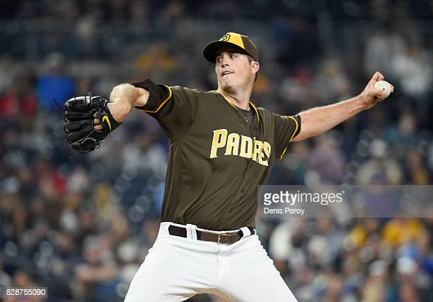 Drew Pomeranz of the San Diego Padres pitches during the fourth inning of a baseball game against the New York Mets at PETCO Park on May 6 2016 in...