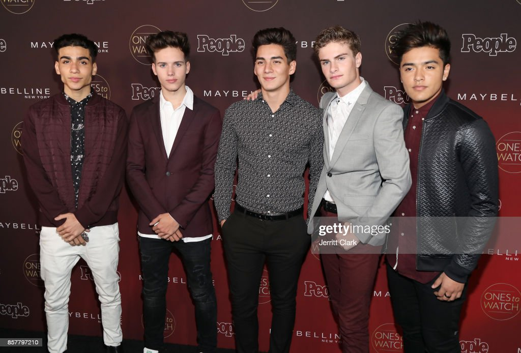 Drew Ramos, Michael Conor, Chance Perez, Brady Tutton, and Sergio Calderon of In Real Life attend People's 'Ones To Watch' at NeueHouse Hollywood on October 4, 2017 in Los Angeles, California.