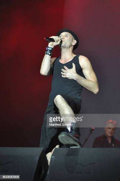 Drew Sarich performs on stage a 'Falco Tribute' during the Day 2 at Donauinselfest 2017 at Donauinsel on June 24 2017 in Vienna Austria