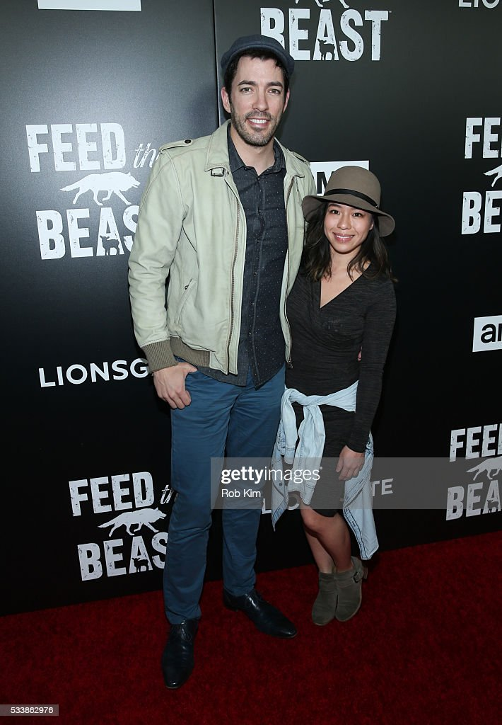 Drew Scott (L) and Linda Phan attend the New York Screening of 'Feed The Beast' at Angelika Film Center on May 23, 2016 in New York City.