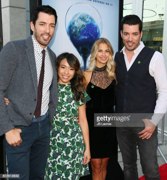 Drew Scott Linda Phan Jacinta Kuznetsov and Jonathan Scott attend a screening of Paramount Pictures' 'An Inconvenient Sequel Truth To Power' on July...