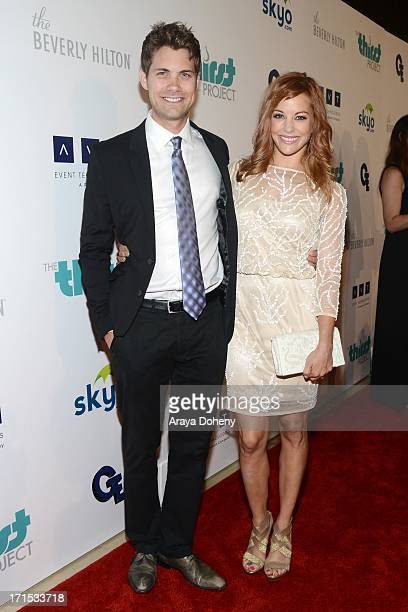 Drew Seeley and Amy Paffrath attend the 4th Annual Thirst Gala at The Beverly Hilton Hotel on June 25 2013 in Beverly Hills California