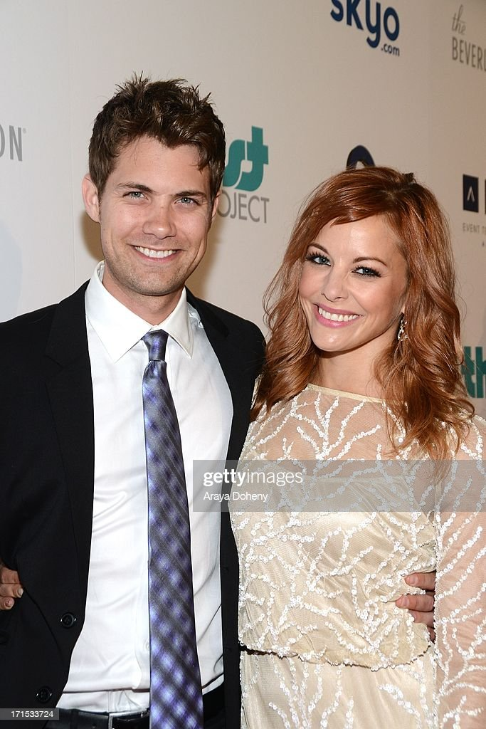 Drew Seeley and Amy Paffrath attend the 4th Annual Thirst Gala at The Beverly Hilton Hotel on June 25, 2013 in Beverly Hills, California.