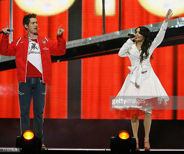 Drew Seeley and Vanessa Hudgens during 'High School Musical' In Concert December 28 2006 at Verizon Wireless Center in Washington DC Washington DC...