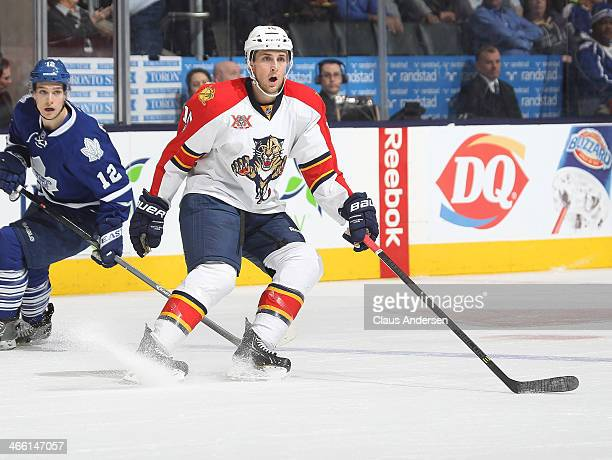 Drew Shore of the Florida Panthers skates during an NHL game against the Toronto Maple Leafs at the Air Canada Centre on January 30 2014 in Toronto...