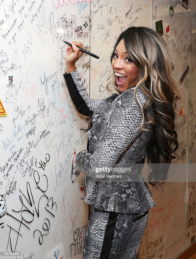 Drew Sidora visits SiriusXM Studios on October 16, 2013 in New York City.