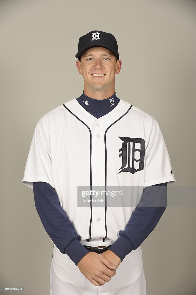 <a gi-track='captionPersonalityLinkClicked' href=/galleries/search?phrase=Drew+Smyly&family=editorial&specificpeople=5928397 ng-click='$event.stopPropagation()'>Drew Smyly</a> #33 of the Detroit Tigers poses during Photo Day on February 19, 2013 at Joker Marchant Stadium in Lakeland, Florida.