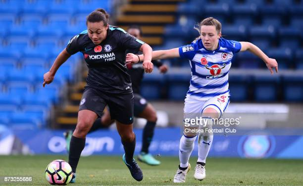 Drew Spence of Chelsea during a WSL match between Reading Women and Chelsea Ladies at Adams Park on October 12 2017 in Wycombe England
