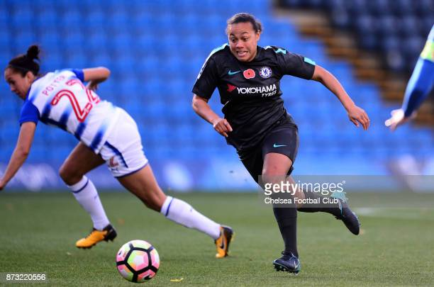 Drew Spence of Chelsea during the FA WSL match between Reading Women and Chelsea Ladies at Adams Park on October 12 2017 in Wycombe England