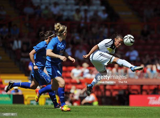 Drew Spence of Chelsea Ladies FC in action during the FA Women's Cup Final Cup at Ashton Gate on May 26 2012 in Bristol England