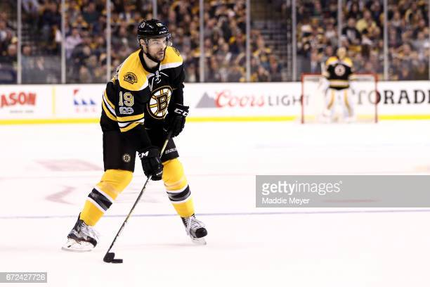 Drew Stafford of the Boston Bruins skates against the Ottawa Senators during the first period of Game Six of the Eastern Conference First Round...