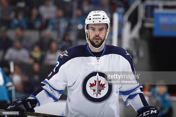Drew Stafford of the Winnipeg Jets looks on during the game against the San Jose Sharks at SAP Center on January 16 2017 in San Jose California