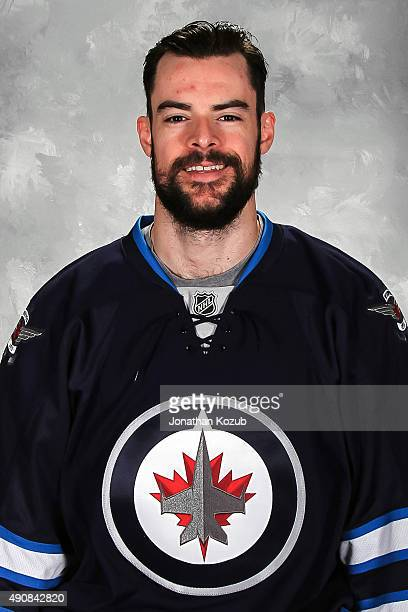 Drew Stafford of the Winnipeg Jets poses for his official headshot for the 20152016 season on September 17 2015 at the MTS Centre in Winnipeg...