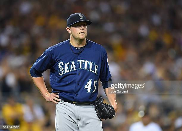 Drew Storen of the Seattle Mariners looks on during interleague play against the Pittsburgh Pirates on July 27 2016 at PNC Park in Pittsburgh...