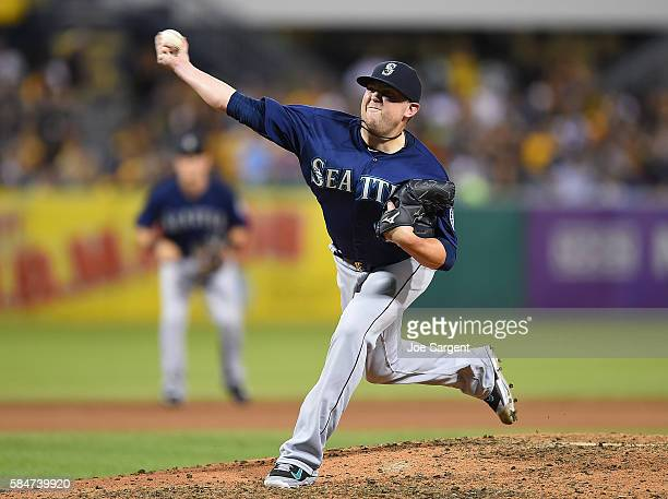 Drew Storen of the Seattle Mariners pitches during interleague play against the Pittsburgh Pirates on July 27 2016 at PNC Park in Pittsburgh...