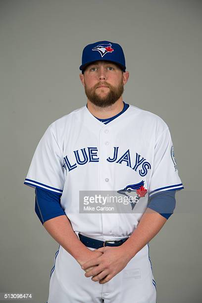 Drew Storen of the Toronto Blue Jays poses during Photo Day on Saturday February 27 2016 at Florida Auto Exchange Stadium in Dunedin Florida