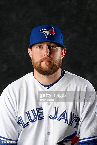 Drew Storen of the Toronto Blue Jays poses for a photo during the Blue Jays' photo day on February 27 2016 in Dunedin Florida