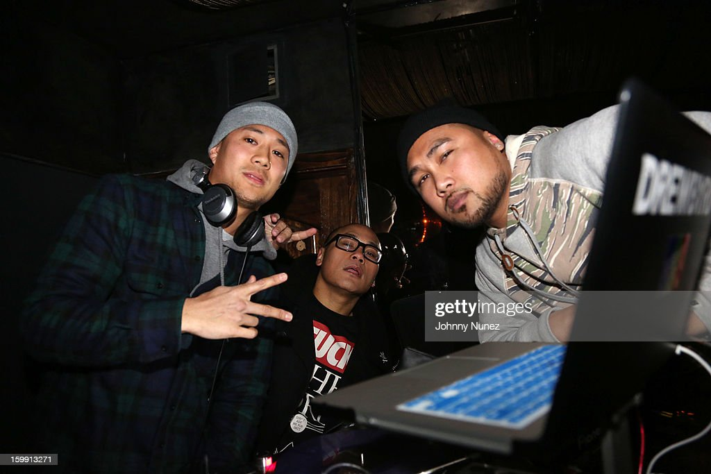 DJ Drewbyrd, DJ Neil Armstrong, and DJ GetLive spin at GetLive With DJ Neil Armstroing at Lil Charlie's on January 22, 2013 in New York City.