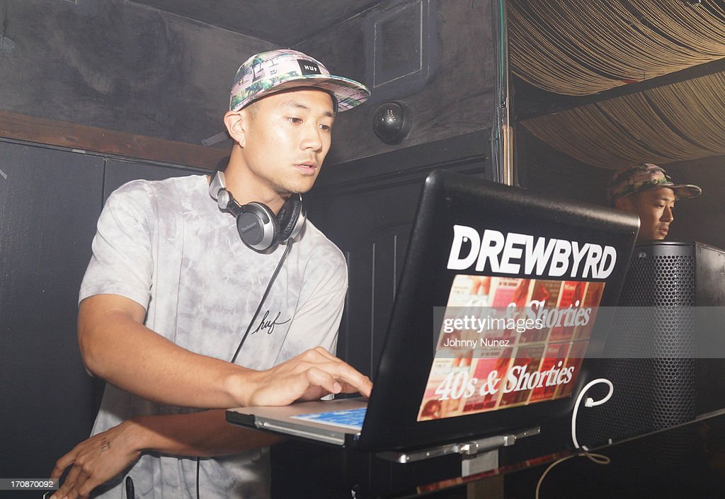 DJ Drewbyrd spins during GetLive! at Lil Charlie's on June 18, 2013 in New York City.