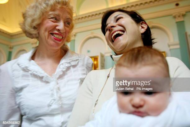 DrGeraldine Luddy enjoys a laugh with Alessandra Fantini along with her young daughter Martha Hunt at the launch of a new study in central Dublin...