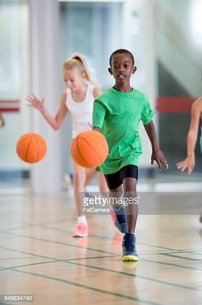 Dribbling a Ball During Recess