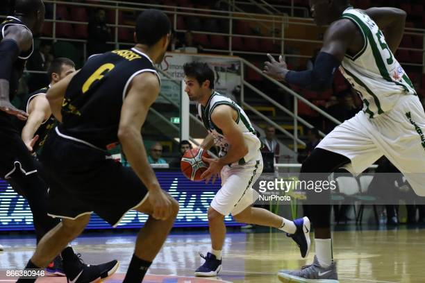 dribbling of Bruno Fitipaldo of Sidigas Avellino during third day of Champions League match between Sidigas Avellino v Oostende at Palasport Giacomo...