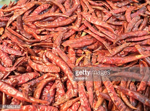 Dried chili peppers : Stock Photo