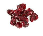 dried cranberry isolated on white