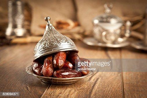 Dried date palm fruits or kurma, ramadan ( ramazan