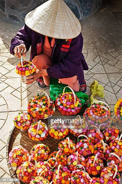 Dried flowers for sale, Dalat