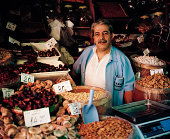 Dried fruit and nut seller in the Spice Market