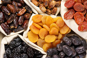 Assorted dried fruits in bags.Please see other images here: