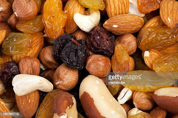 Dried fruits.