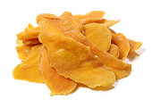 Dried mango in a white background