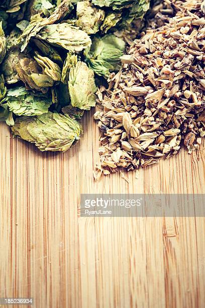 Dried Organic Cascade Hops and Malted Barley
