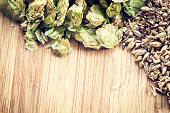 Dried Organic Cascade Hops and Malted Barley