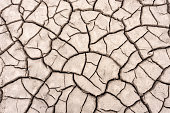 Dried out soil with cracks when dry