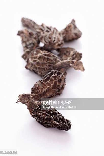 Dried pointed morel mushrooms