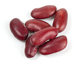 dried red beans isolated on white background