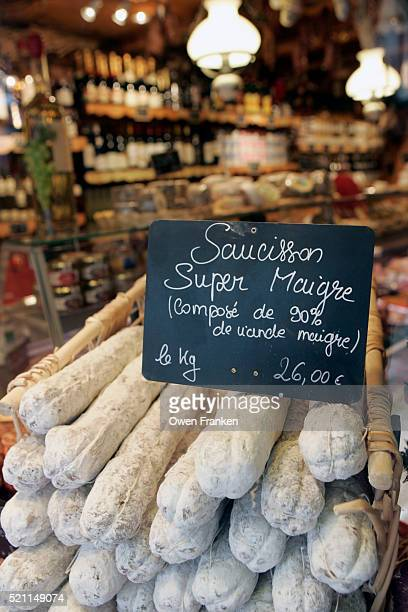 Dried Sausages in French Market