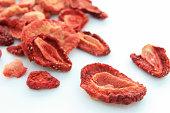 Dried srawberries.