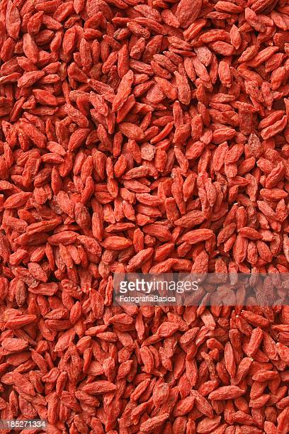 Dried wolfberries background