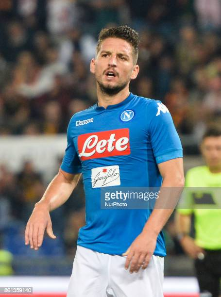 Dries Mertens during the Italian Serie A football match between AS Roma and SSC Napoli at the Olympic Stadium in Rome on october 14 2017