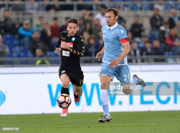 Dries Mertens during the Italian Serie A football match between SS Lazio and AC Napoli at the Olympic Stadium in Rome on april 09 2017