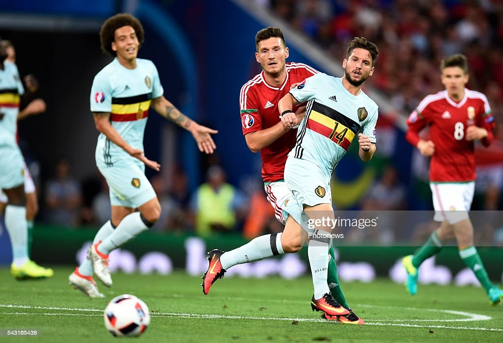 Dries Mertens forward of Belgium during the UEFA EURO 2016 Round of 16 match between Hungary and Belgium at the Stadium Toulouse on June 26, 2016 in Toulouse, France ,