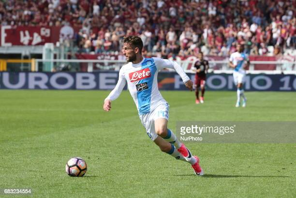 Dries Mertens in action during the Serie A football match between Torino FC and SSC Napoli at Olympic stadium Grande Torino on may 14 2017 in Turin...