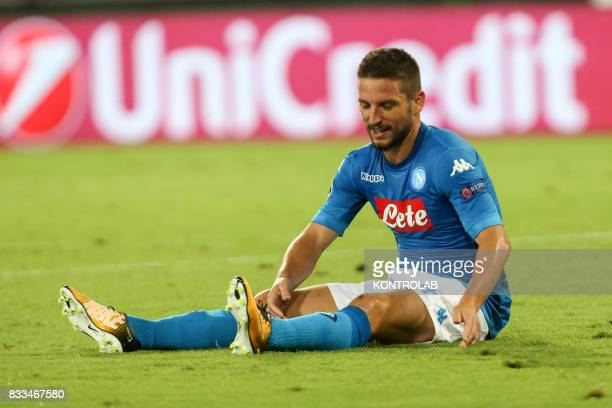 Dries Mertens Napoli striker during the match between SSC Napoli and OGC Nice for UEFA Champions League playoff qualification Napoli wins 2 to 0...