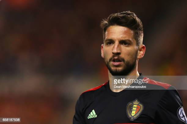 Dries Mertens of Belgium in action during the FIFA 2018 World Cup Group H Qualifier match between Belgium and Greece at Stade Roi Baudouis on March...