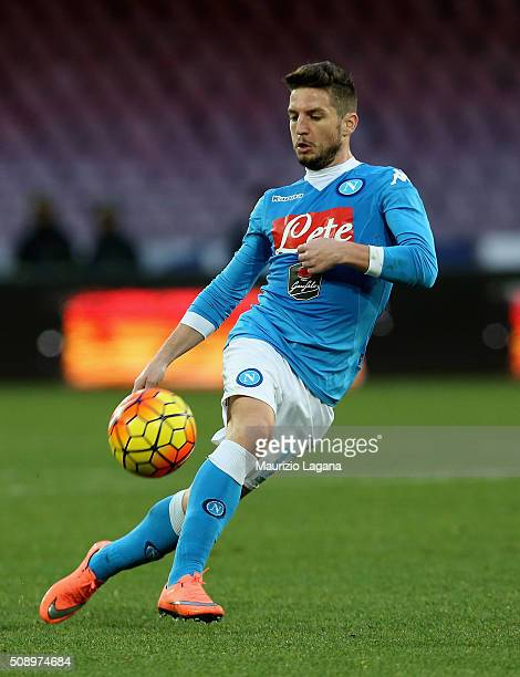 Dries Mertens of Napoli during the Serie A match between SSC Napoli and Carpi FC at Stadio San Paolo on February 7 2016 in Naples Italy